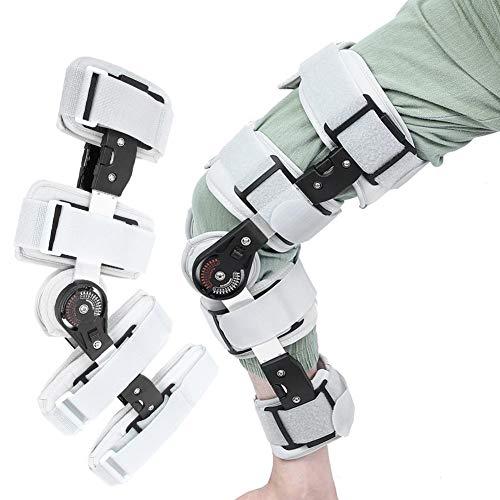 Rodillera con bisagras, soporte de rodillera ajustable, rodillera para la estabilización de recuperación y lesiones, estabilizador de soporte ortopédico ajustable después de la cirugía