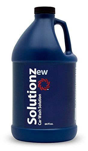 New Solutionz Car Wash Solution - Low Suds! Concentrated Professional Grade Car Wash Soap and Shampoo, pH Neutral Formula for Safe, Streak Free Cleaning - Safe on All Automotive Paints (64 oz)