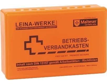 Leina-Werke Betriebsverbandkasten DIN 13157 ohne Wandhalter 20002 neonorange