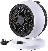 "TISDLIP Table Fan 9"" Oscillating Desk Fan Turbo Cooling Powerful Electric Air Circulator School"
