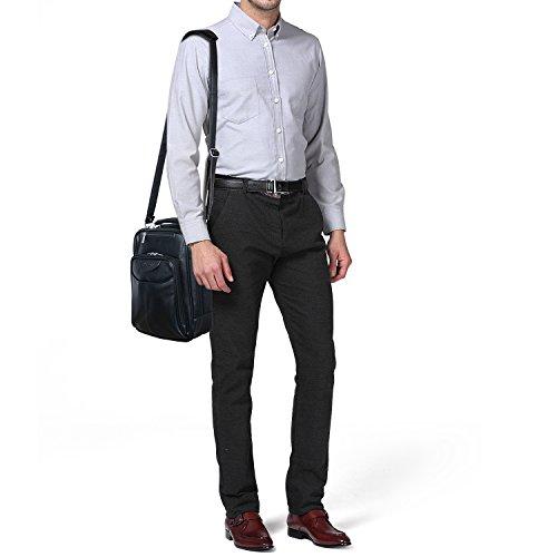 Jack&Chris®Men's Leather Cross Body Handbag Shoulder Messenger Bag Sling Bag,MBYX019