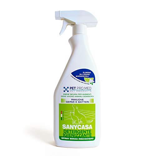 Virosac Petpromed Sanycasa Spray Ideale per Pulire Gli Ambienti Dove Vivono Gli Animali Domestici, Taglia Unica, Naturale
