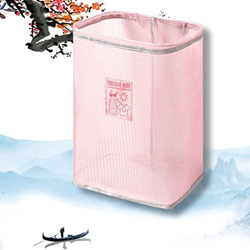 Cesto Portabiancheria, Cesto Della Biancheria/contenitore Di Stoccaggio/organizzatore, Cestello Salvaspazio, Porta Oggetti for Il Bucato In Ordine (Color : Pink)