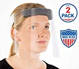 R20 Protective Face Shields with Clear Vision, Comfort Sponge For Eye Protection. (2 Pack)