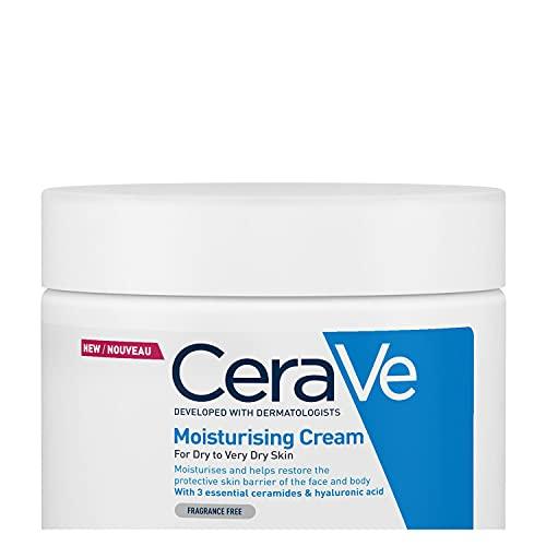CeraVe Moisturising Cream | 454 g/16 oz | Daily Face, Body & Hand Moisturiser for Instant & Long-Lasting Hydration