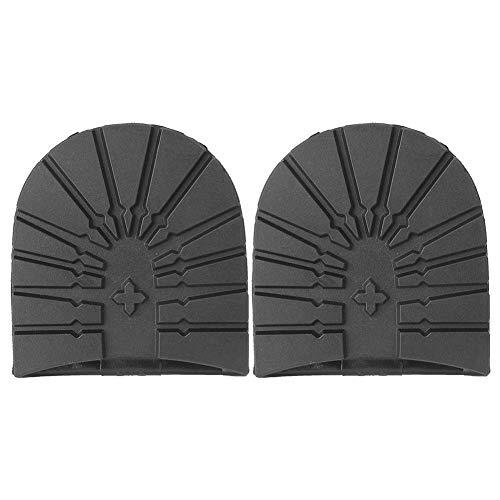 fegayu Anti-Rutsch-Schuhboden Vollsohle Reparatur Ersatz, strapazierfähiger Gummi Flexible Schuhe Gummi Halbsohle und Absätze, weich tragbar für Lederschuhe Sportschuhe(Black Heel)