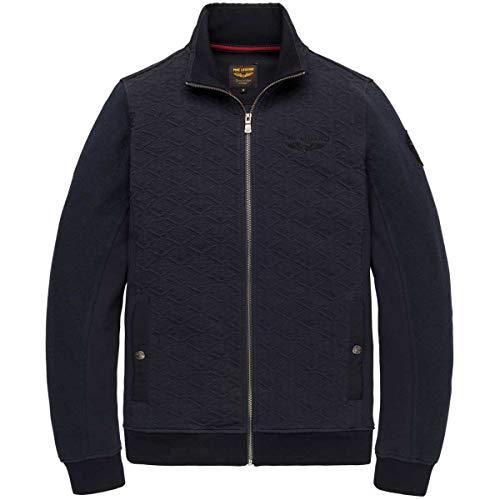 PME Legend Herren Sweatjacke Zip Jacket Structure Sweater Dark Sapphire dunkelblau - XXXL