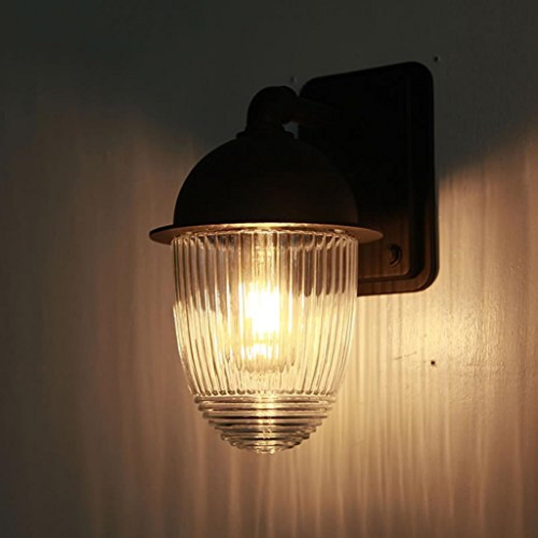 Brilliant firm Auenwandleuchten Imprgniern Sie rostfreie Gartenlampenglasball-Wandlampe im Freien Gartenauenwandbalkonkorridorlampe A++ (Farbe   schwarz, Größe   21cm)