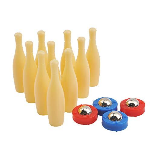 COSDDI Mini-Bowlingspiel, 10er-Pack Mini-Bowlingspiel für Familien, kompakt für die Aufbewahrung oder als Spieleklassiker für Kinder und Erwachsene