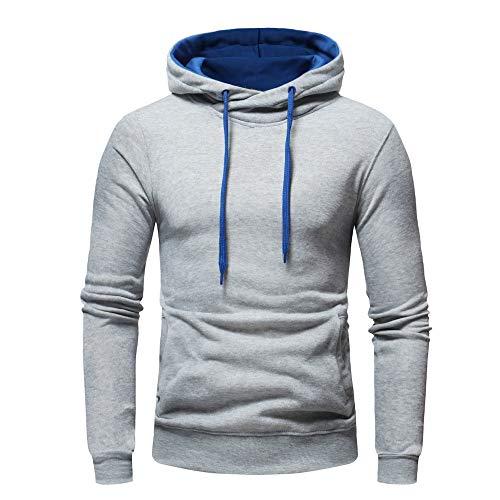 PRJN Herren Outdoor Sweatshirt Chunky Einfarbiger Pullover Hoodie Warmer Pullover Top Reine Farbe Hoodie Casual Sweater Herren T-Shirt Mode All-Match Sweater Jacke Herren Casual Pure Color Hoodie