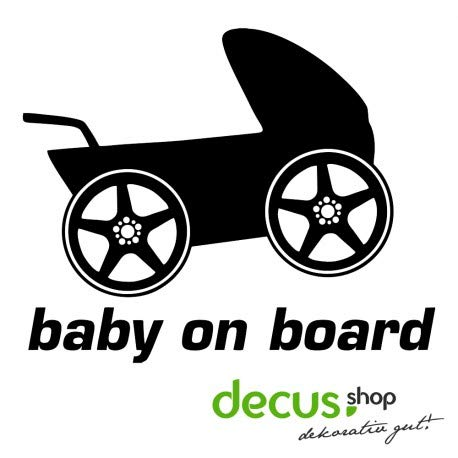 Decus Baby on Board Kinderwagen // Sticker OEM JDM Style Aufkleber
