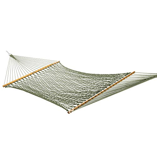 Original Pawleys Island 13DCMDW Large Meadow DuracordRope Hammock with Free Extension Chains &...