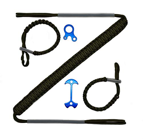 HZUTUZH 250 Paracord Archery Bow Sling - Ideal Hunting Accessories for Compound Bow - Multi Functional Survival EDC Rope Lock Adjustable for Hunting & Shooting
