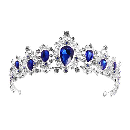 Luxshiny Tiara de cristal barroco Rhinestone Boda Coronas Tocados Vintage Nupcial Accesorios...