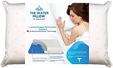 Mediflow Water Pillow Memory Foam re-Invented with Waterbase Technology - Clinically Proven to Reduce Neck Pain & Improve Sleep Quality. (Single Pack)