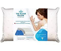 CLINICALLY PROVEN WATERBASE TECHNOLOGY: provides superior comfort, improves quality of sleep and reduces neck pain. IDEAL FOR ALL SLEEP POSITIONS: Back sleeping, side sleeping, or stomach sleeping, water moves as you move. So you don't have to wake u...