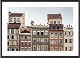 Cartel retro moderno de la calle de la ciudad Hong Kong Barcelona Praga lienzo pintura Varsovia Venecia Canal cuadro de arte de pared decoración de dormitorio 40 * 60 sin marco
