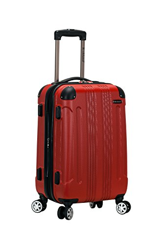 Rockland London Hardside Spinner Wheel Luggage, Red, Carry-On 20-Inch