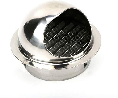 304 Edelstahl Ablufthaube, Ø-150mm Runden Wetterschutzgitter Lüftungsgitter, Ablufthaube für Küche Dunstabzugshaube Lüftungsgitter - Silber