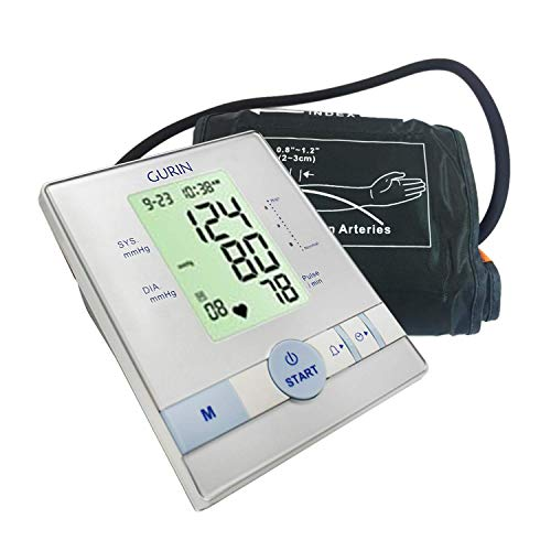 Gurin Automatic Upper Arm Blood Pressure Monitor with Large Display, Digital Blood Pressure Cuff Meter