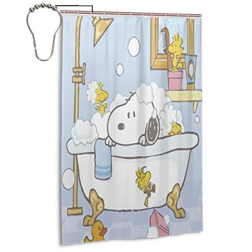 Lxjjj Stall Fabric Shower Curtains,Fashion Snoopy Bathing Printed Bathroom Curtain,48 by 72 Inch