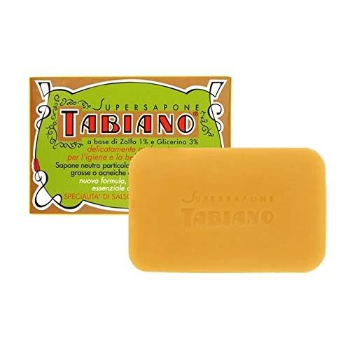 Jabón Tabiano para pieles grasas y acneicas con azufre, paquete doble (2...