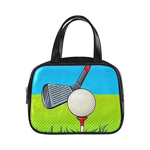 Handtasche Männer Putter Golf Ball Pop Art Style Womans Einkaufstasche Mode Taschen Pu Leder Top Griff Satchel Damenmode Taschen
