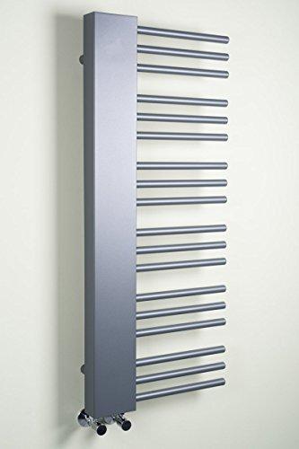 Warmehaus Designer Handtuchheizkörper Badheizkörper 1085 x 450 mm grau