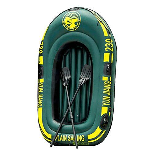 Boot Floß, Seahawk Schlauchboot Set, PVC 2 Personen Schlauchboot Ruderboote Für Erwachsene Gummi Dingy Kajak Kanufischen, Tränenresistentes Faltbares Driftboot Im Freien