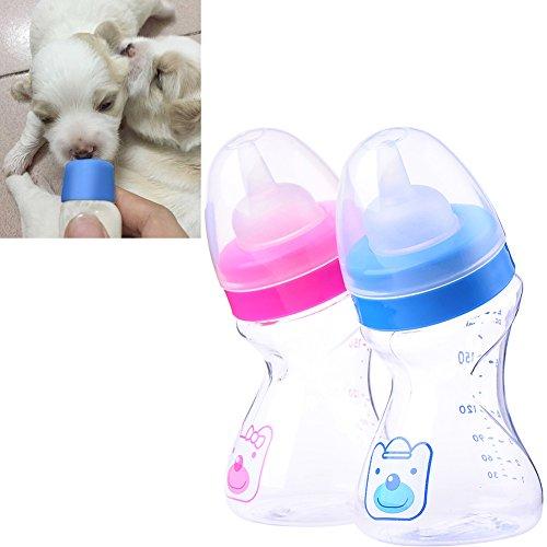 TJW 1 x Fläschchen für kleine Hunde, Kätzchen, 180 ml, zufällige Farbe