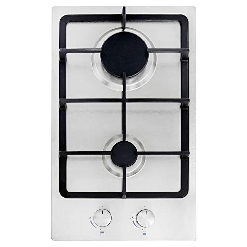 Cookology GH309SS 30cm Built-in Domino Gas Hob in Stainless...