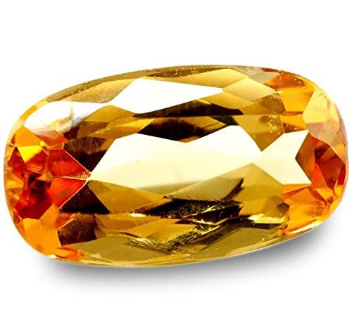 【鑑別付】天然 インペリアルトパーズ 2.035ct オレンジ ピンク トパーズ インペリアル ルース 原石 宝石 裸石 ナチュラルストーン ジェムストーン【加工承ります】