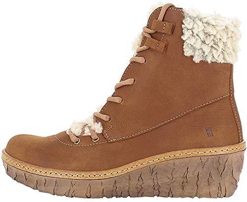 El Naturalista N5139 MYTH YGGDRASIL Damen Keilstiefeletten,Frauen Stiefel,Boots,Halbstiefel,Wedge-Bootie,gefüttert,Winterstiefeletten,WOOD,EU 36