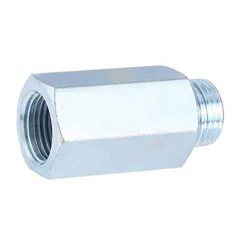 KKmoon Edelstahl Sauerstoff-Sensor O2 Lambda Sensor Extender Abstandhalter für Decat & Wasserstoff M18