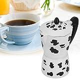 Práctico fácil de instalar Estufa Cafetera Cafetera Olla Moka Olla para cafetería(9 cups milk cow color 450ML)