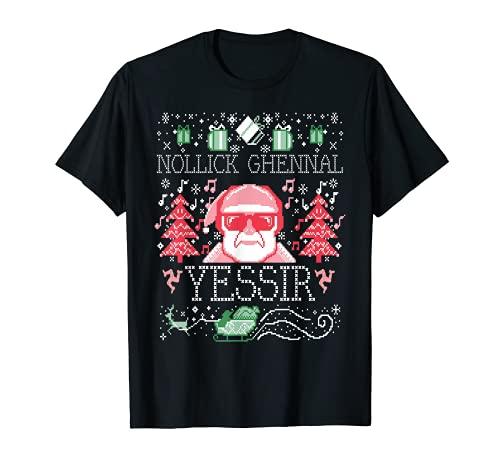 Felicitación navideña de Ugly Nollick Ghennal Yessir A Manx Camiseta