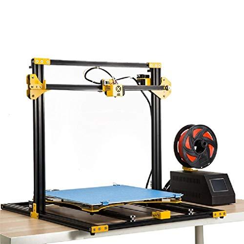 Imprimante 3D, imprimante Grand métal FDM 3D, la précision de positionnement de 0,012 mm d'axe xy, Taille 420X420X400mm Construire (Color : Black)