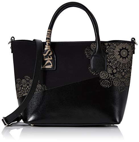 Desigual Damen Bag 2tones Holbox Mini Umhängetasche, Schwarz (Negro), 24.5x13x29 cm