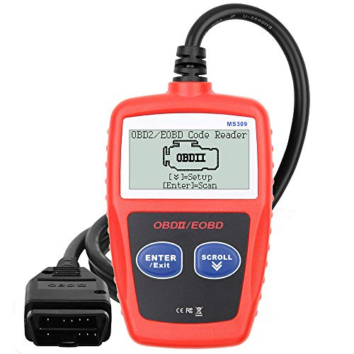 Outzone MS309 OBD2 General Automobile Diagnostic Scanner Code Reader, Check Engine Failure Code, Clear Code, View Frozen Frame Data, I/M Ready Smoke scanning Tool for Cars, Trucks and Vans
