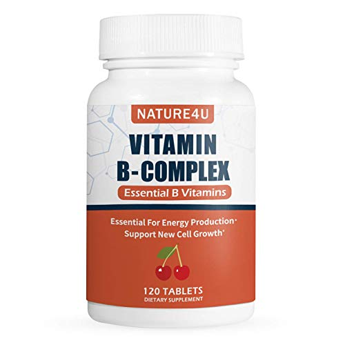 Nature4U Vitamin B Complex - All B Vitamins Including B12, B1, B2, B3, B6 - Supplement - Support Healthy Energy Metabolism - 120 Tablets