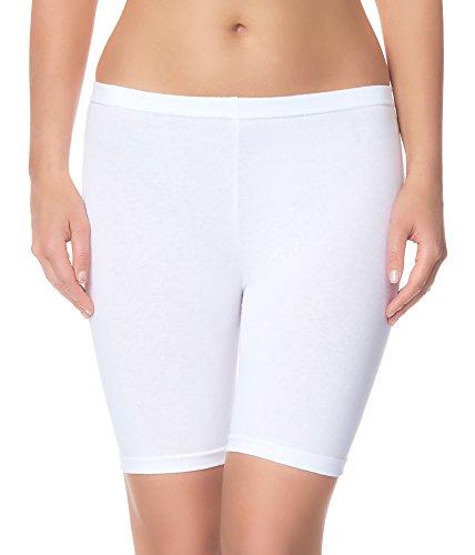 Ladeheid Damen Shorts Radlerhose Unterhose Hotpants Kurze Hose Boxershorts LAMA04 (Weiß11, 2XL/3XL)