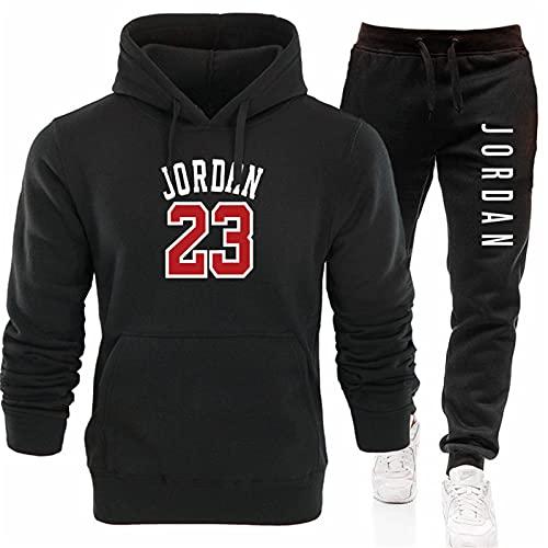 PKIMKM Jordan 23# Traje Deportivo para Hombre con Estampado Jogging Joggers Conjunto De Chándal Running Gym Bottoms Pantalones Deportivos con Capucha para Hombre