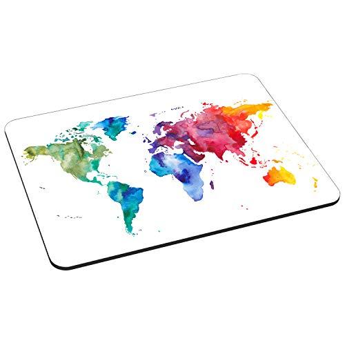 Pedea Gaming und Office Mauspad - 220 x 180 mm - mit Vernähten Rändern und Rutschfester Unterseite, Color World