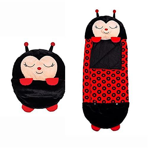 2 en 1, diseño de animales de dibujos animados, saco de dormir supersuave y cálido, saco de dormir para niños, saco de dormir y saco de dormir para sorprender a los niños (mariquita, pequeño)