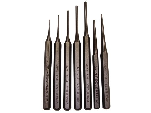 Grace USA - Gun Care Steel Punch Set - PS7 - Gunsmithing - Steel Punches - 7 piece - Gunsmith Tools & Accessories