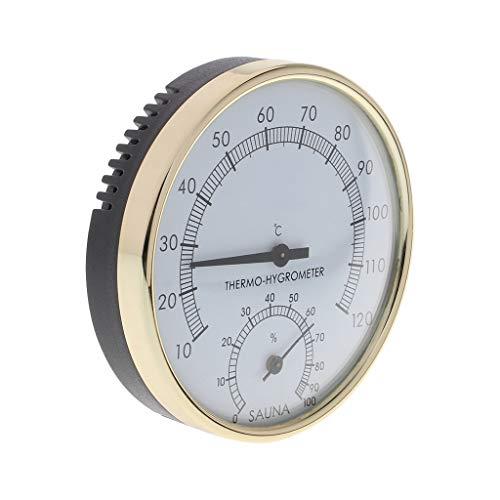 Duyummy Metallzifferblatt-Innentemperatur-Feuchtemessgerät-Thermometer & Hygrometer Für Sauna-Raum-Messwerkzeug