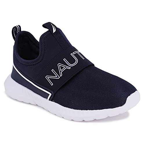Nautica Kids Boys Fashion Sneaker Slip-On Athletic Running Shoe for Toddler and Little Kids-Steeper 5 Mesh-Navy Mesh-7