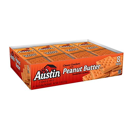 Austin, Sandwich Crackers, Crackers Cheese With Peanut Butter, 8.280lb Case (12 Count)
