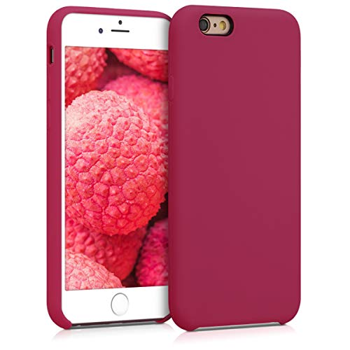 kwmobile Hülle kompatibel mit Apple iPhone 6 / 6S - Handyhülle gummiert - Handy Case in Fuchsia Rot