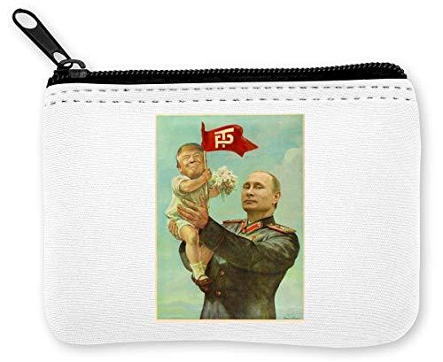 Putin with Trump Kid Retro Münzen Reißverschluss Geldbörse